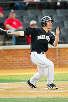 Andrew Williams (16) of the Wake Forest Demon Deacons follows through on his swing against the North Carolina State Wolfpack at Wake Forest Baseball Park on March 16, 2013 in Winston-Salem, North Carolina.  The Demon Deacons defeated the Wolfpack 13-4.  (Brian Westerholt/Four Seam Images)