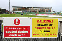 Warning signs ahead of Somerset CCC vs Essex CCC, Specsavers County Championship Division 1 Cricket at The Cooper Associates County Ground on 25th September 2019
