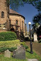 AJ3354, round church, Charleston, South Carolina, The Circular Congregational Church in Charleston in the state of South Carolina.