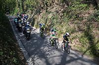 breakaway up the 'Hagaard'<br /> <br /> 57th Brabantse Pijl - La Flèche Brabançonne (1.HC)<br /> 1 Day Race: Leuven › Overijse (197km)
