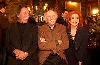 Gilles Vignault (M)  Jean Pierre Ferland (L) Lancement d'album - Album Launch<br /> Jean Pierre Ferland, 2001 file photo<br /> <br /> <br /> photo : Roussel - AQP