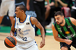 Liga ENDESA 2020/2021. Game: 16.<br /> Club Joventut Badalona vs Hereda San Pablo Burgos: 78-95.<br /> Alex Renfroe vs Albert Ventura.