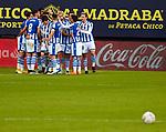 Real Sociedad team celebs goal  La Liga match round 10 between Cadiz CF and Real Sociedad at Ramon of Carranza Stadium in Cadiz, Spain, as the season resumed following a three-month absence due to the novel coronavirus COVID-19 pandemic. Nov 22, 2020. (ALTERPHOTOS/Manu R.B.)