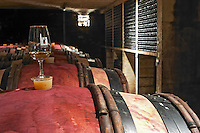 silicone bung on barrel with glass domaine chevalier p&f ladoix cote de beaune burgundy france