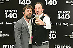 "Antonio de la Torre and Alex Odogherty attend the Presentation of ""Happy 140"" (Felices 140) Movie at Eurobuilding Hotel, Madrid,  Spain. April 07, 2015.(ALTERPHOTOS/)Carlos Dafonte)"