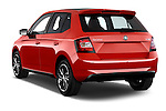Car pictures of rear three quarter view of 2016 Skoda Fabia Monte-Carlo 5 Door Hatchback Angular Rear