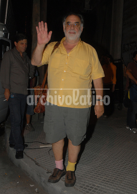 Cinema director and producer Francis Ford Copolla during his visit to Buenos Aires, Argentina