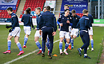 St Johnstone v Hamilton Accies…30.12.20   McDiarmid Park     SPFL<br />Fitness coach Alex Headrick takes the players through the pre match warmup<br />Picture by Graeme Hart.<br />Copyright Perthshire Picture Agency<br />Tel: 01738 623350  Mobile: 07990 594431