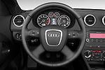 Steering wheel view of a 2003 - 2012 Audi A3 Attraction 2-Door Convertible.