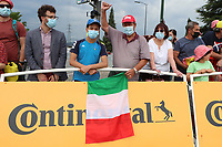 6th July 2021, Albertville, Auvergne-Rhône-Alpes, France; TOUR DE FRANCE 2021- UCI Cycling World Tour. Stage 10 from Albertville to Valence on the 6th of July 2021, Fans from Italy with an Italian flag at the Tour.