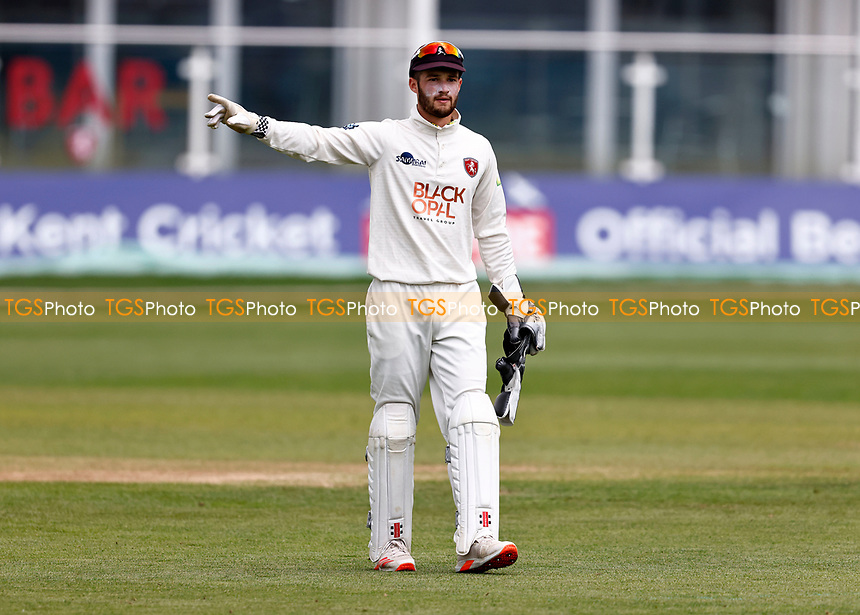Ollie Robertson of Kent directs during Kent CCC vs Northamptonshire CCC, LV Insurance County Championship Group 3 Cricket at The Spitfire Ground on 6th June 2021