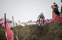 Evie Richards (GBR) with 'half-pants'...<br /> <br /> 2016 CX UCI World Cup Zeven (DEU)