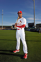 Mar 01, 2010; Jupiter, FL, USA; St. Louis Cardinals infielder Julio Lugo (12) during  photoday at Roger Dean Stadium. Mandatory Credit: Tomasso De Rosa/ Four Seam Images