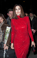 February 5 2018, PARIS FRANCE<br /> 23th Ceremonie des Lumieres for the International Press Awards at the Arabic World Institute in Paris. Actress Monica<br /> Belluci arrives at the Ceremony.