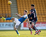 St Johnstone v Ross County…24.02.18…  McDiarmid Park    SPFL<br />Steven MacLean under pressure from Chris Rowtis<br />Picture by Graeme Hart. <br />Copyright Perthshire Picture Agency<br />Tel: 01738 623350  Mobile: 07990 594431