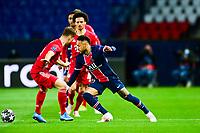 13th April 2021; Parc de Princes, Paris, France; UEFA Champions League football, quarter-final; Paris Saint Germain versus Bayern Munich;  Neymar Jr (PSG) breaks past his defender