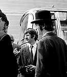 The Beatles 1967 Paul McCartney,  Ringo Starr and John Lennon during filming of The Magical Mystery Tour...© Chris Walter..