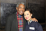 André De Shields visits Cast of Broadway's Allegiance Backstage 2/13/16