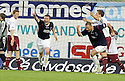 05/05/2008   Copyright Pic: James Stewart.File Name : sct_jspa04_falkirk_v_hearts.THOMAS SCOBBIE CELEBRATES  AFTER HE SCORES FALKIRK'S FIRST.James Stewart Photo Agency 19 Carronlea Drive, Falkirk. FK2 8DN      Vat Reg No. 607 6932 25.Studio      : +44 (0)1324 611191 .Mobile      : +44 (0)7721 416997.E-mail  :  jim@jspa.co.uk.If you require further information then contact Jim Stewart on any of the numbers above........