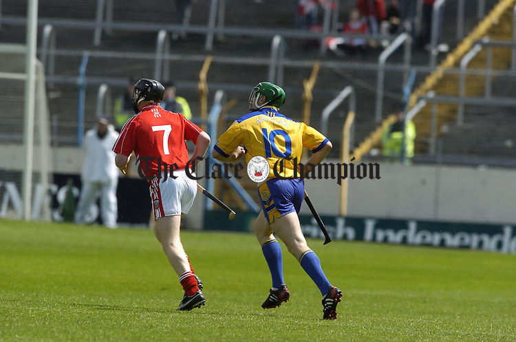 Intermediate Hurling Clare v Cork at semple stadium Thurles.....Manager Kevin Kennedy