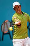 Kei Nishikori, Japan, during Madrid Open Tennis 2016 match.May, 4, 2016.(ALTERPHOTOS/Acero)