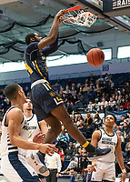 WASHINGTON, DC - FEBRUARY 22: Jared Kimbrough #24 of La Salle shoots a basket during a game between La Salle and George Washington at Charles E Smith Center on February 22, 2020 in Washington, DC.