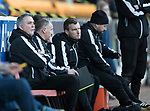 St Johnstone v Ross County…24.02.18…  McDiarmid Park    SPFL<br />Owen Coyle watches from the dugout<br />Picture by Graeme Hart. <br />Copyright Perthshire Picture Agency<br />Tel: 01738 623350  Mobile: 07990 594431