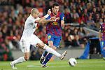 Barcelona's Sergio Busquets and Real Madrid's Pepe during la liga match on april 21st 2012...Photo: Cesar Cebolla / ALFAQUI
