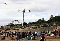 Pictured: A crowd of thousands of people attend the show. Saturday 01 July 2017<br /> Re: National Wales Air Show in Swansea Bay, Wales, UK.