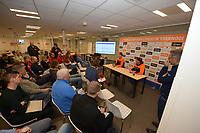 SCHAATSEN: HEERENVEEN: 01-11-2019, IJsstadion Thialf, World Cup Kwalificatietoernooi, persconferentie KNSB, ©foto Martin de Jong