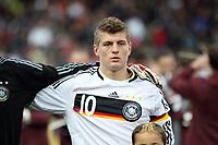 Toni Kroos (Leverkusen)<br /> Deutschland vs. Finnland, U19-Junioren<br /> *** Local Caption *** Foto ist honorarpflichtig! zzgl. gesetzl. MwSt. Auf Anfrage in hoeherer Qualitaet/Aufloesung. Belegexemplar an: Marc Schueler, Am Ziegelfalltor 4, 64625 Bensheim, Tel. +49 (0) 151 11 65 49 88, www.gameday-mediaservices.de. Email: marc.schueler@gameday-mediaservices.de, Bankverbindung: Volksbank Bergstrasse, Kto.: 151297, BLZ: 50960101