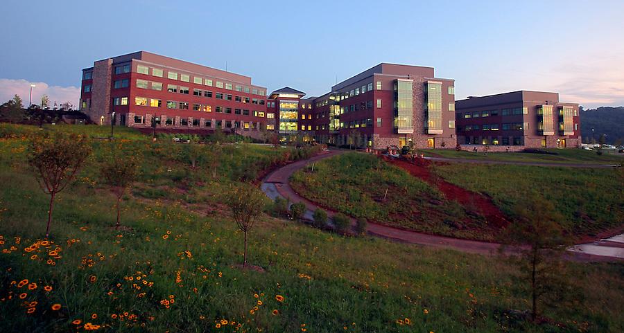 The new Martha Jefferson Hospital in Albemarle County, VA. Photo/Andrew Shurtleff