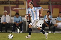Argentina midfielder Fernando Gago (5). The men's national teams of the United States and Argentina played to a 0-0 tie during an international friendly at Giants Stadium in East Rutherford, NJ, on June 8, 2008.