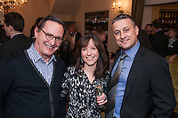 From left are Jaap Piersma, Michelle Stevenson and James Amos