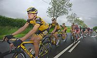 Gerald Ciolek (DEU) followed by teammates & the peloton<br /> <br /> 2013 Skoda Tour de Luxembourg<br /> stage 1: Luxembourg - Hautcharage (184km)