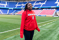 HARRISON, NJ - MARCH 7: SheBelieves Hero Semahj Ware poses at Red Bull Arena on March 7, 2020 in Harrison, New Jersey.