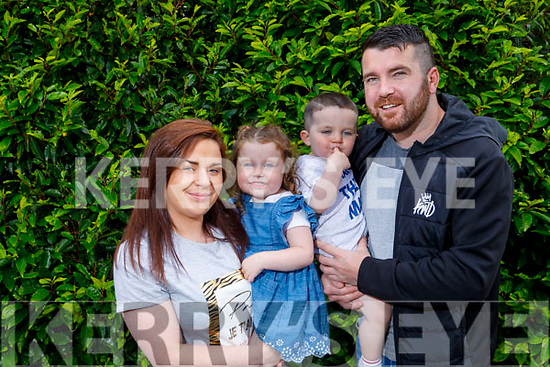 Ruby Moriarty from St Brendans Park, celebrating her 3rd birthday on the 4th of July.<br /> L to r: Christina Moloney, Tommy and Rian Moriarty.