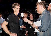 Februari 11, 2015, Netherlands, Rotterdam, Ahoy, ABN AMRO World Tennis Tournament, Andy Murray (GBR)<br /> Photo: Tennisimages/Henk Koster