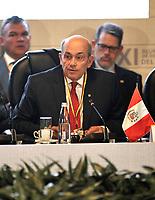 BOGOTÁ – COLOMBIA, 24-02-2019: Hugo de Zela, Vicanciller de Perú, durante la 11ª Reunión de Ministros de Relaciones expteriores del Grupo de Lima en Bogotá, Colombia. El grupo de 14 miembros de Lima, que incluye a la mayoría de los latinoamericanos. Es la primera reunión en la que Venezuela participará como miembro del grupo de Lima, representado por el presidente interino Juan Guaido. / Hugo de Zela, Vice Chancellor of Peru, during the 11th Lima Group Foreign Ministers meeting in Bogota, Colombia. The 14-member Lima Group, which includes most Latin American countries. It is first meeting in which Venezuela will participate as a member of the Lima group, represented by the president interim Juan Guaido. Photo: VizzorImage / Luis Ramirez / Staff.