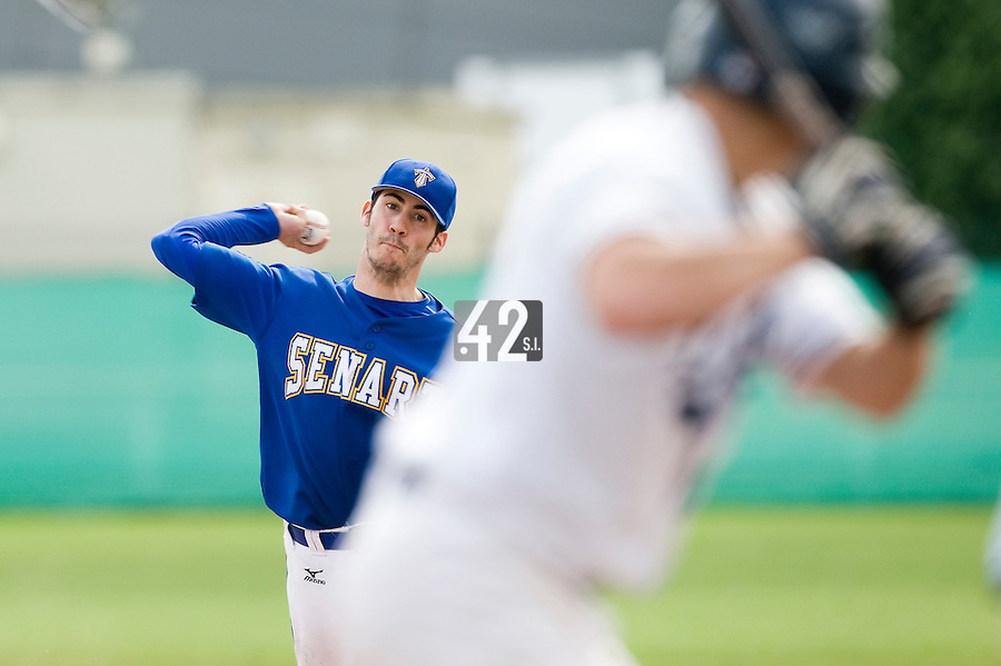 04 May 2008: Pitcher #17 Matthieu BRELLE ANDRADE,  of the Templiers of Senart, has won the MVP (Most Valuable Player) award for the final game of the Challenge of France 2008, in Clermont-Ferrand, France. The Templiers of Senart win 17-2 against the Lions of Savigny sur Orge.