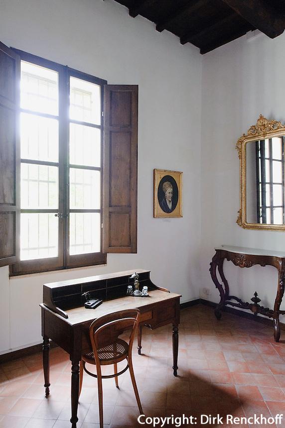 Wohnräume, Casa Museo di Garibaldi auf  Isola Caprera, La Maddalena-Archipel (Arcipelago della Maddalena), Provinz Olbia-Tempio, Nord Sardinien, Italien