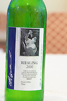 Bottle of Riesling 2000 Vere e Cilesise se Larte, Rrush, Berat region. Tirana capital. Albania, Balkan, Europe.