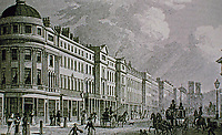 115-127 Regent Street, West Side from Quadrant. London. Historical photo.