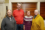 Maire Ni Ghabhlain, Sceal Eile, Barry O Driscoll, Precious Pets and Betty Gallagher and Mairead Lavery of SVDP at the announcement of the winners of the annual Clare Champion Christmas Shop Window Display competition in the Old Ground hotel, Ennis. Photograph by John Kelly.