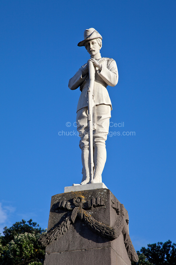 """Lord Plunket, 1906 Governor of New Zealand, Napier, north island, New Zealand.   The monument is in memory of New Zealanders from Hawke's Bay who fought in the Boer War in South Africa, 1899-1902, """"serving the empire's cause."""""""
