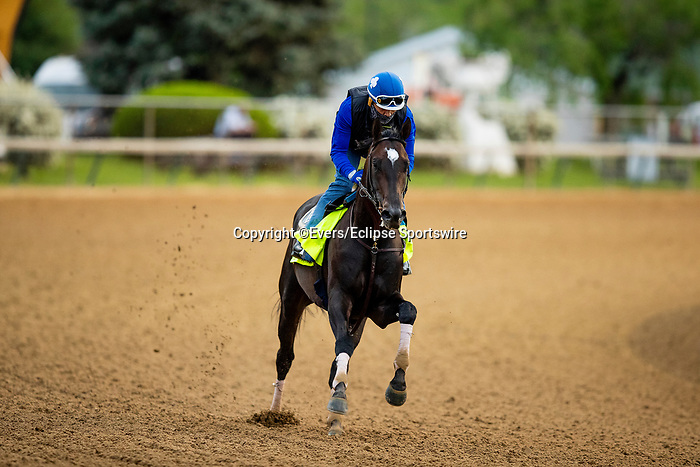 April 28, 2021: Rock Your World gallops in preparation for the Kentucky Derby at Churchill Downs in Louisville, Kentucky on April 28, 2021. EversEclipse Sportswire/CSM