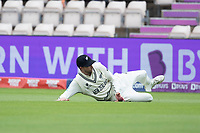 Devon Conway, New Zealand fields and prevents a boundary during India vs New Zealand, ICC World Test Championship Final Cricket at The Hampshire Bowl on 19th June 2021