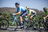 aime Castrillo Zapater (ESP/Movistar) in the early breakaway group up the Knokteberg<br /> <br /> <br /> 62nd E3 Harelbeke 2019 (1.UWT)<br /> Harelbeke – Harelbeke: 203,9km<br /> ©kramon