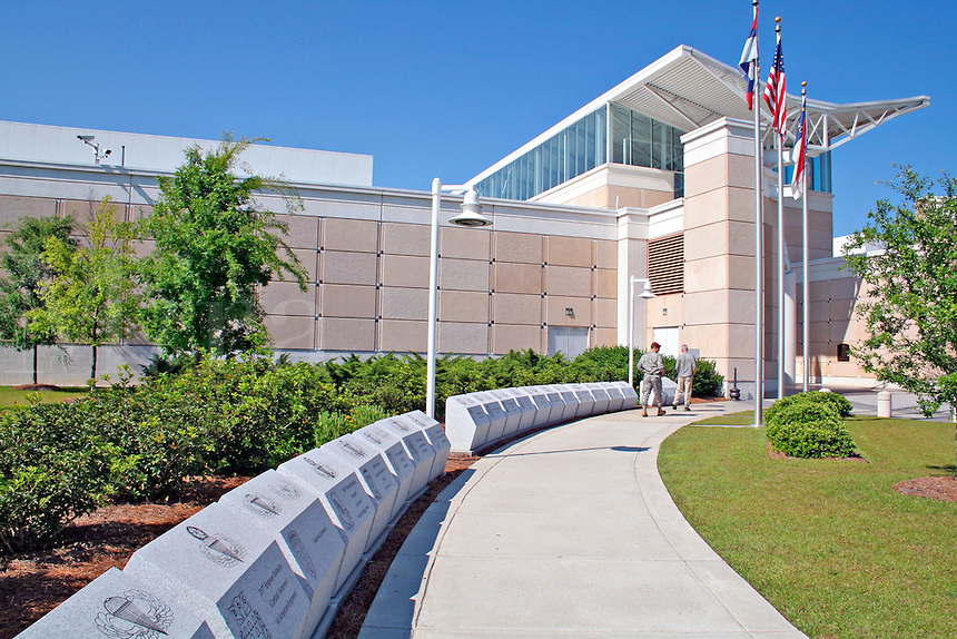 People walking Air Borne and Special Operations Museum in Fayetteville North Carolina