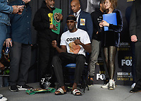 """ONTARIO - DECEMBER 20:  Tony Harrison at  the weigh in for the December 21 fight on the Fox Sports PBC """"Harrison v Charlo"""" on December 20, 2019 in Ontario, California. (Photo by Frank Micelotta/Fox Sports/PictureGroup)"""